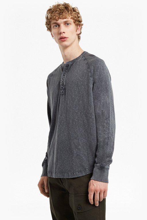Complete the Look Garment Dyed Slub Jersey Top