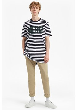 Merci Striped Slogan T-Shirt