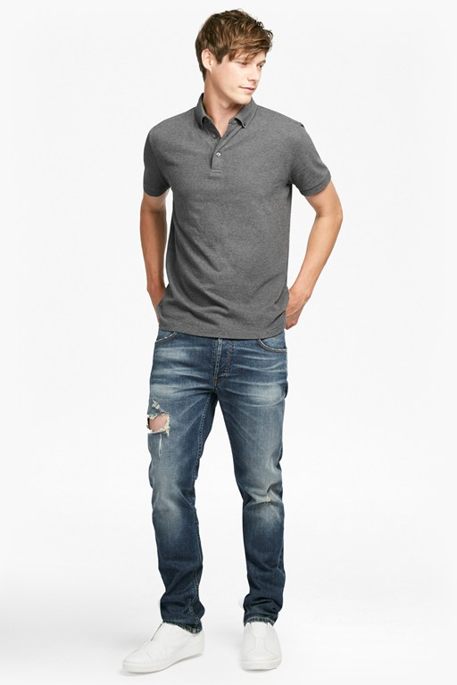 parched textured pique polo shirt