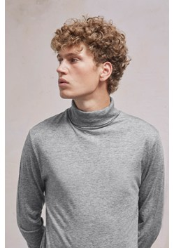 Wool Jersey Roll Neck Top