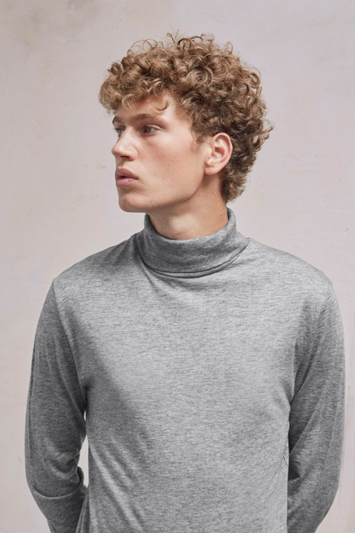 Complete the Look Wool Jersey Roll Neck Top