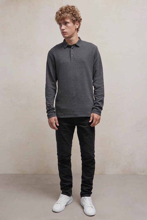 double face alt stripe polo shirt