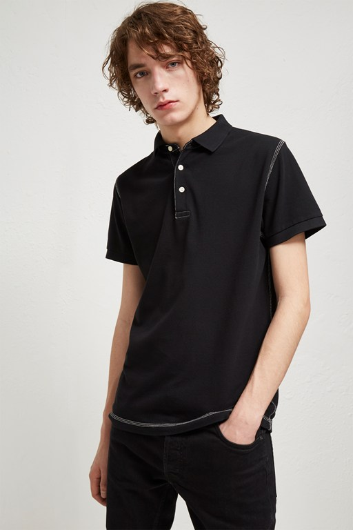 triple stitch polo shirt