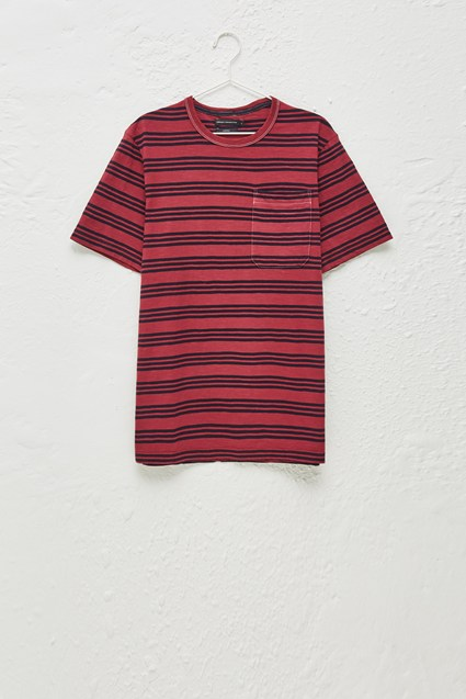 Garment Dye Triple Stripe T-Shirt