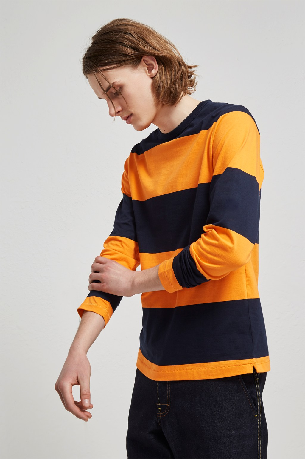 Block Stripe Crew Neck T Shirt Polo Shirts French Connection Usa