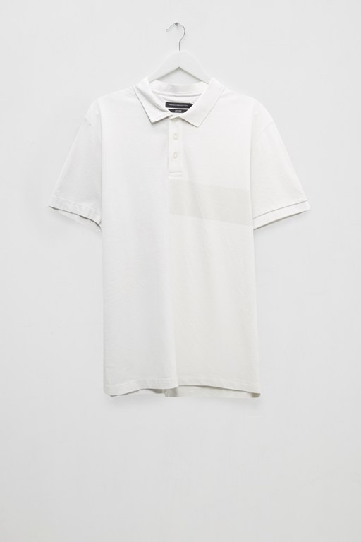 split patch polo shirt