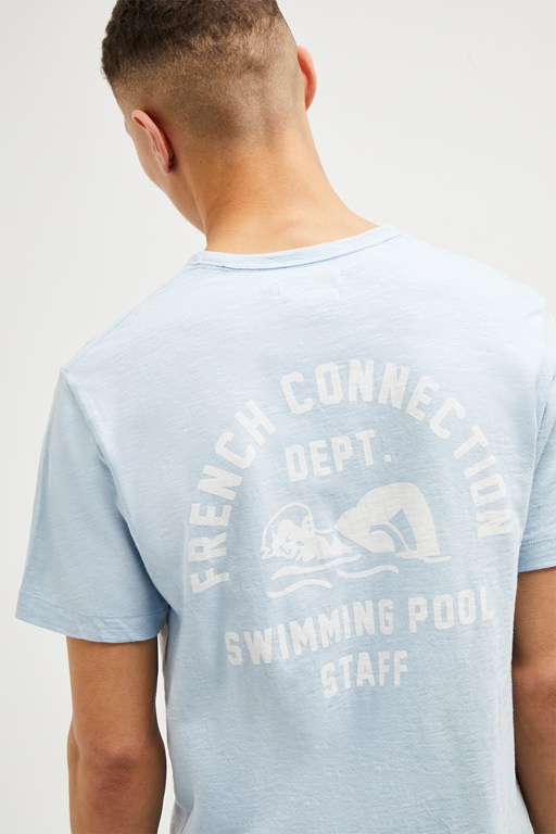 swimming pool staff slogan t-shirt