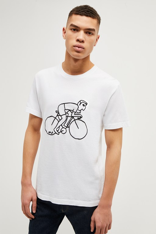 cyclist graphic t shirt