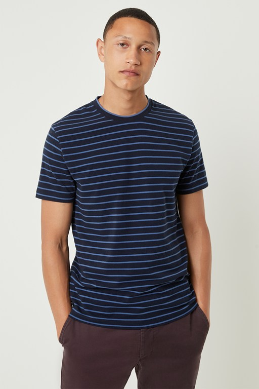 Complete the Look Tim Tim Stripe Crew Neck T-shirt