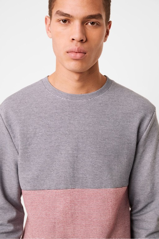 plated stripe jersey long sleeve t-shirt