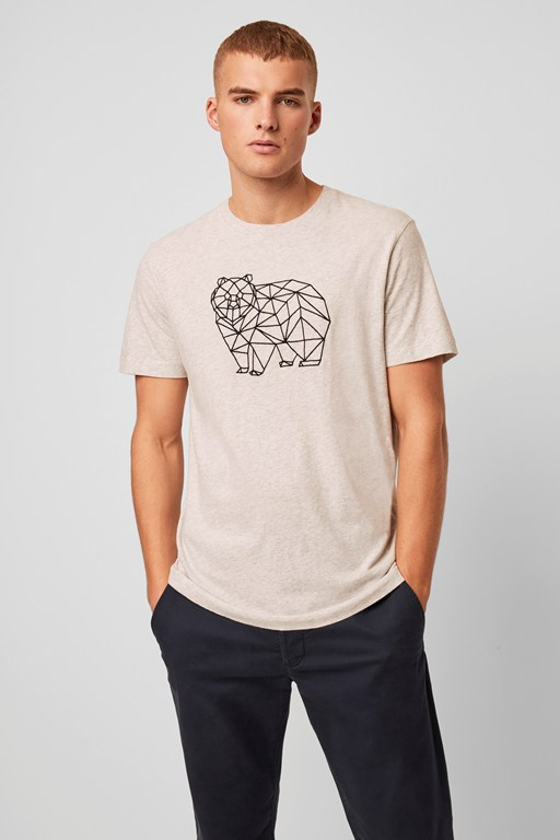 grizzly bear grid t-shirt