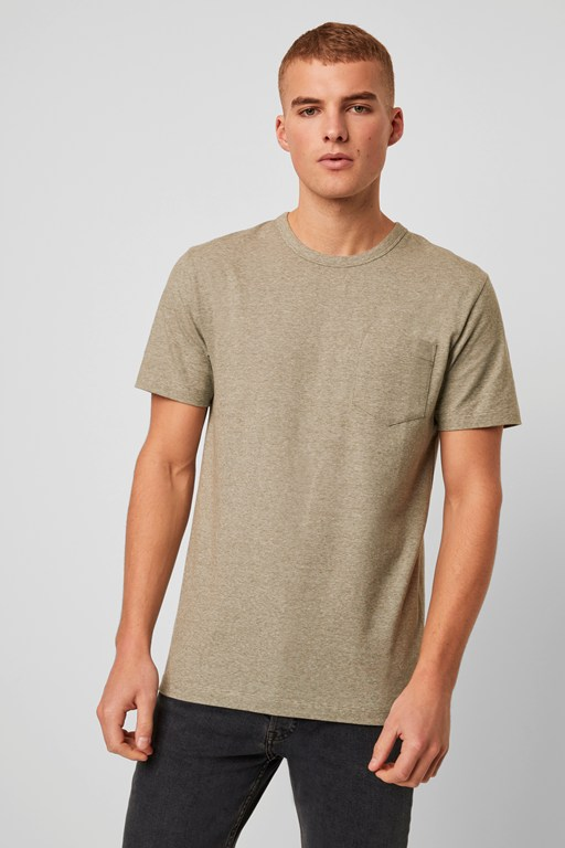 organic space stripe jersey t-shirt