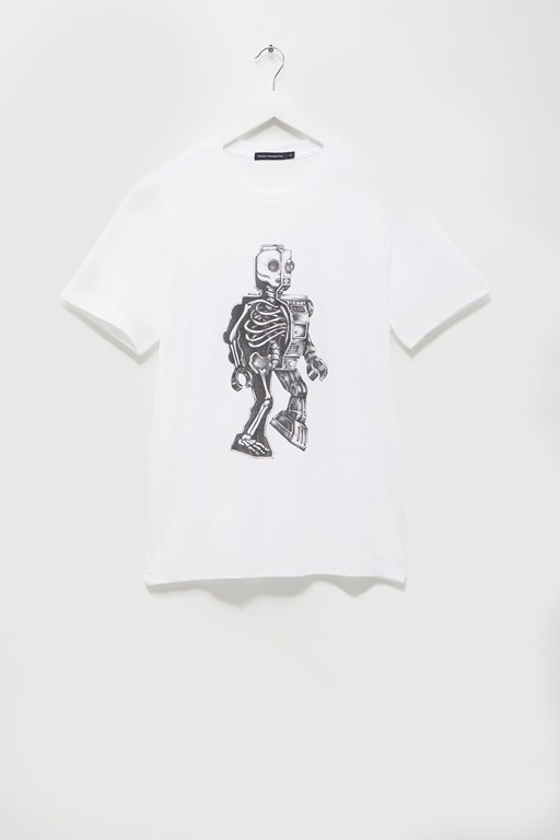 robot skeleton t-shirt