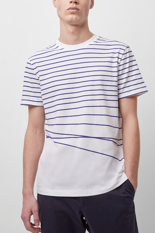 warped breton stripe t-shirt