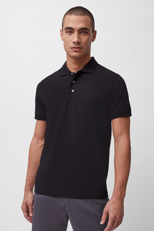 seersucker jersey shortsleeve polo