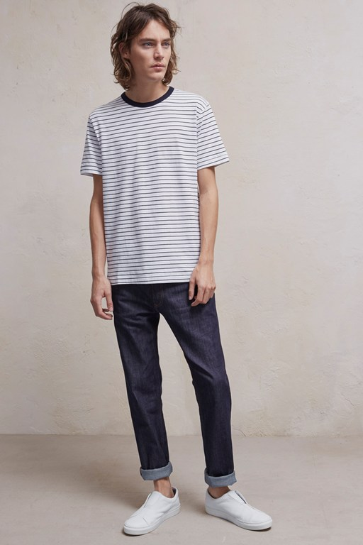 Complete the Look Fine Stripe Jersey T-Shirt