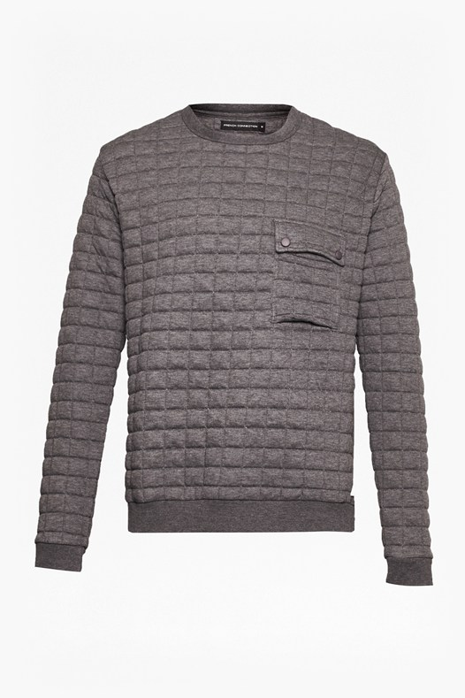 Joystick Quilted Sweatshirt