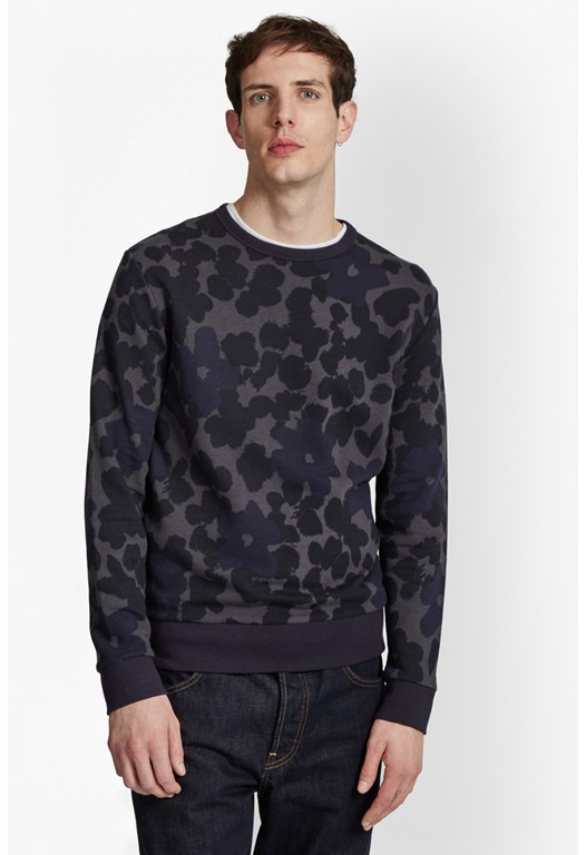 Big Bucky Floral Printed Sweatshirt