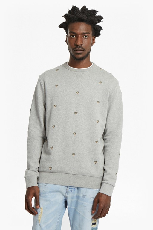 Complete the Look Party Palms Embroidered Sweatshirt