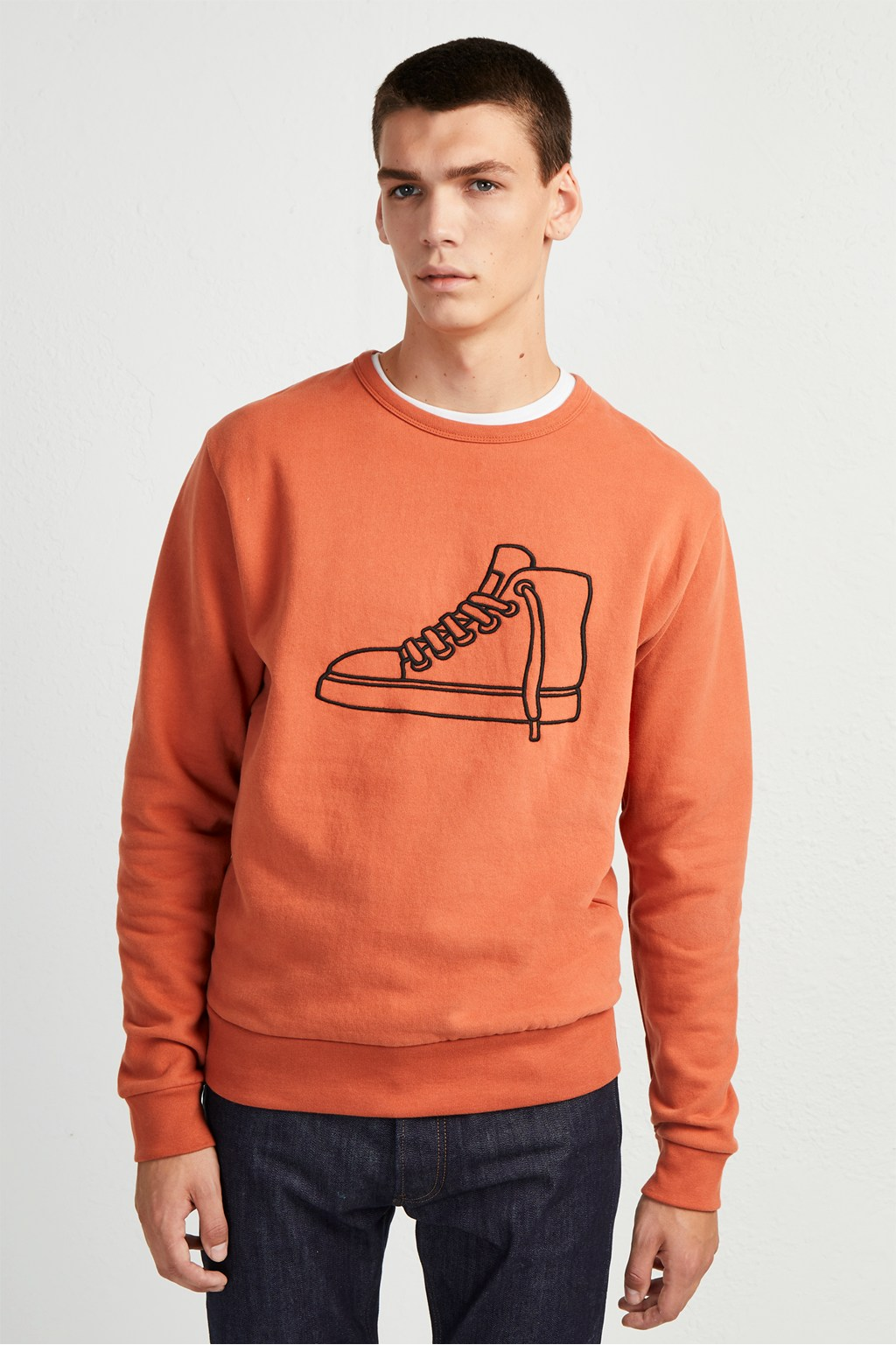 bfa56d2642a Sneaker Embroidered Sweatshirt | Graphic Tees | French Connection Usa