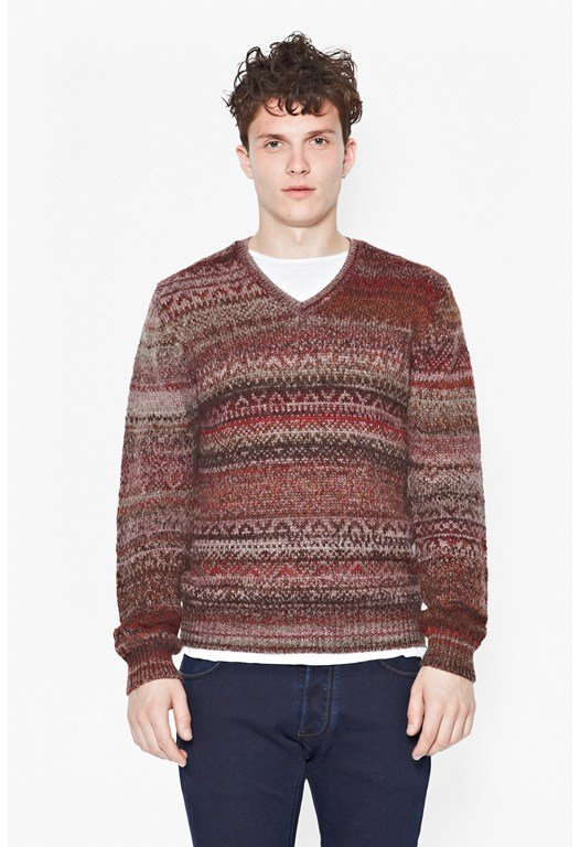 Pheasant Tweed Fair Isle Jumper