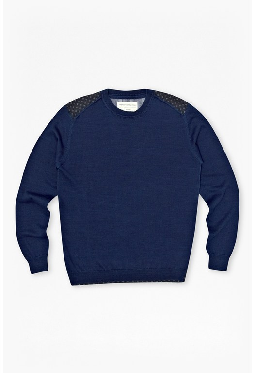 Ansel Contrast Trim Cotton Jumper