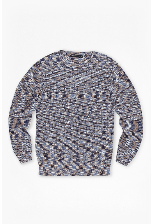SPACE DYE KNITS CREW NECK L/S