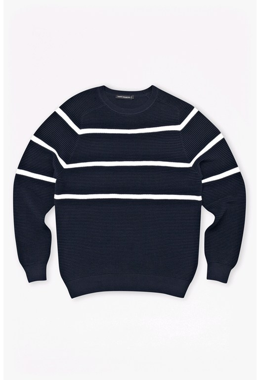 Engineered Striped Ottoman Jumper
