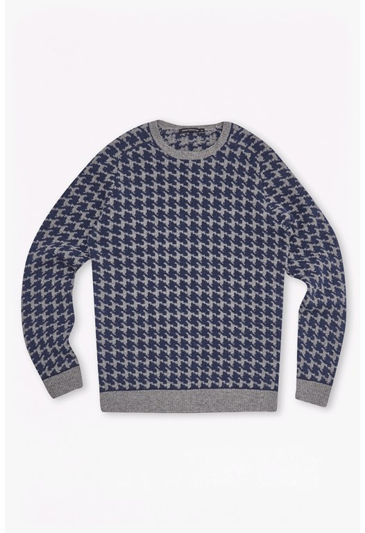 Dogtooth Wool Knit