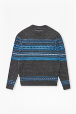 Looks Great With Felt Fair Isle Knit