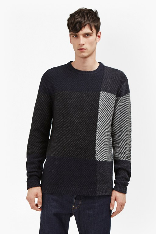 Complete the Look Twill Check Knit Jumper