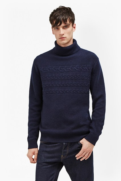 Cable Stripe Knits Jumper