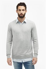 Looks Great With Shirt Knit Hybrid Sweater