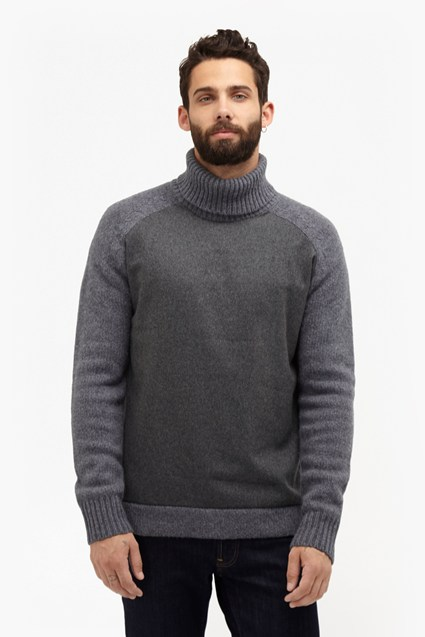 Melton Knit Turtle Neck Jumper