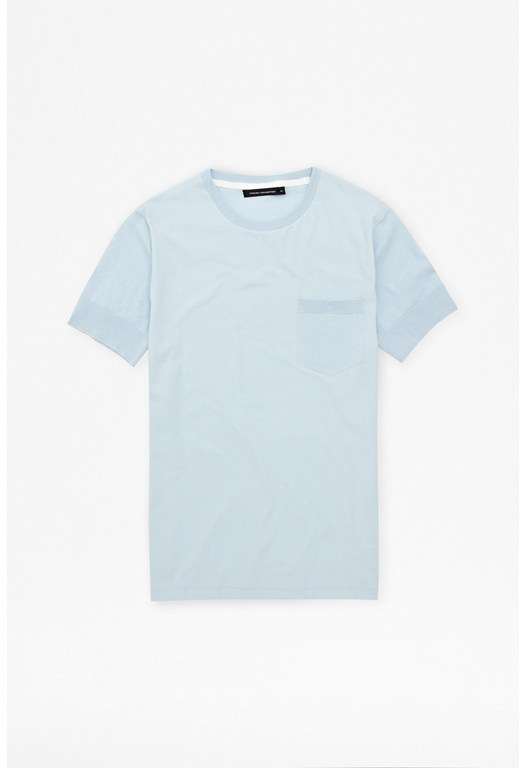 Mixed Jersey Pocket T-Shirt