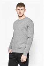 Looks Great With Merino Basics V Neck Jumper
