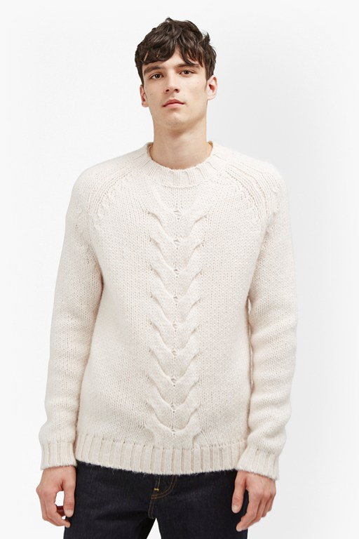 ridge cable knit jumper