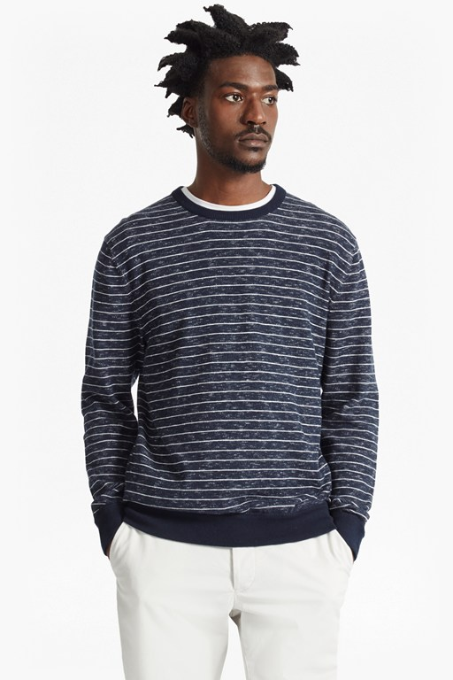 Complete the Look Plaited Stripe Knitted Jumper