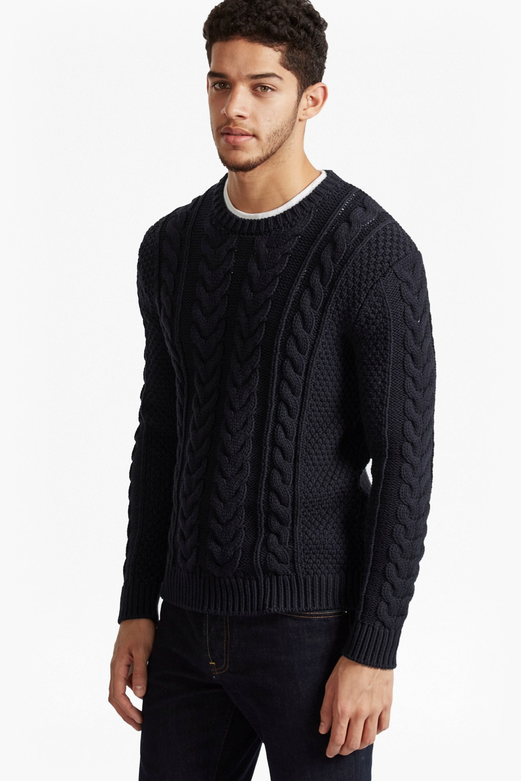 Flux Cable Knit Jumper Shirts French Connection Usa