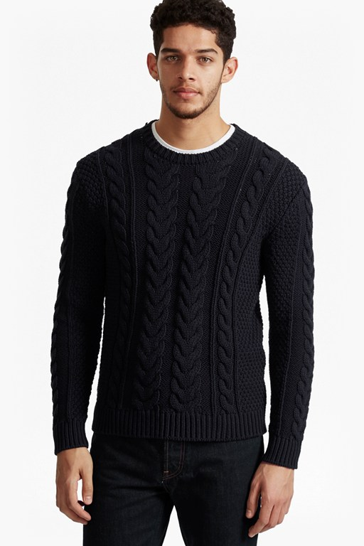 Complete the Look Flux Cable Knit Jumper