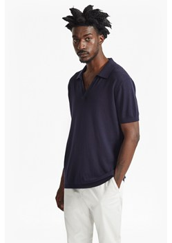 Open Collar Knitted Polo Shirt