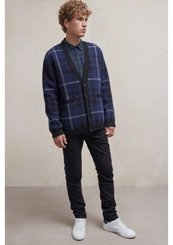 Oversized Check Cardigan