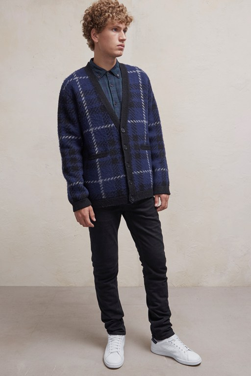 Complete the Look Oversized Check Cardigan