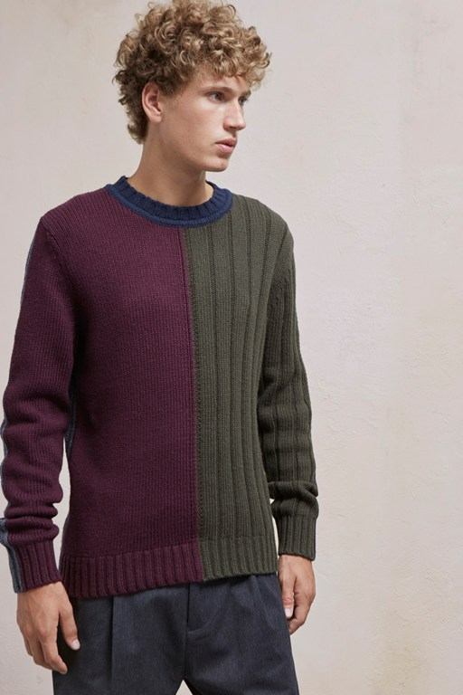 cotton wool mixed stripe jumper