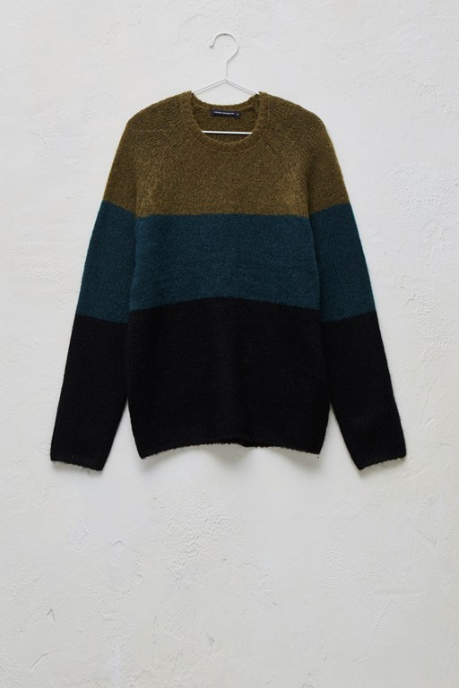 Complete the Look Block Stripe Mohair Mix Jumper