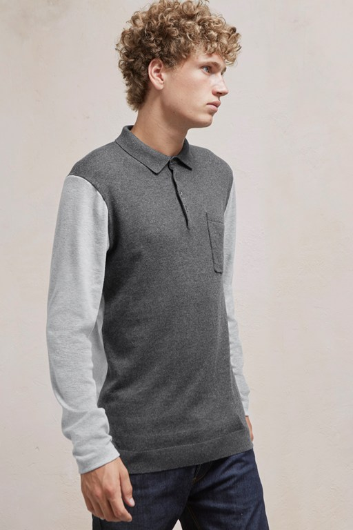 Complete the Look Portrait Hybrid Long Sleeved Polo Top