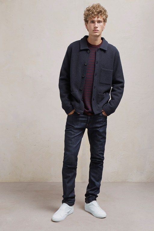 boiled wool shirt jacket