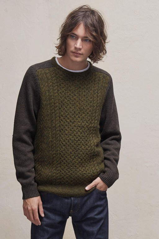 Complete the Look Mohair Cable Knit Mix Jumper