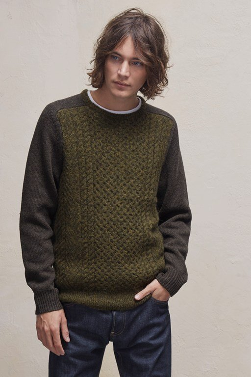 mohair cable knit mix jumper