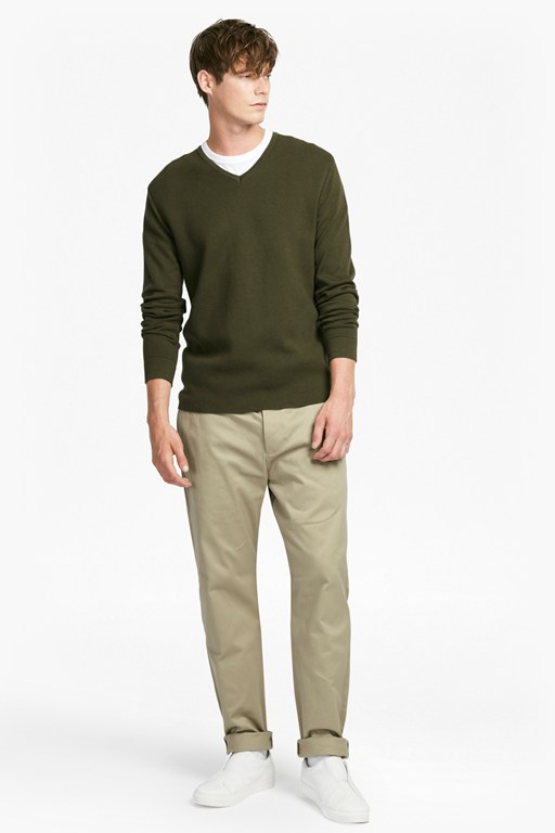 Complete the Look Milano Front Cotton V Neck Jumper